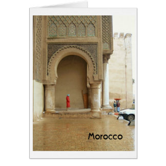 Marrakech Palace Morocco Greeting Card