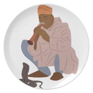 Marrakech Snake Charmer Melamine Plate
