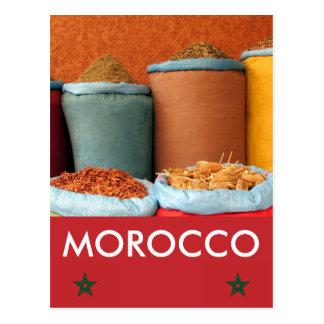 marrakech spice morocco postcard