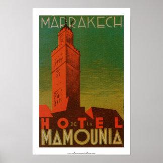 Marrakesh Hotel de la Mamounia Póster