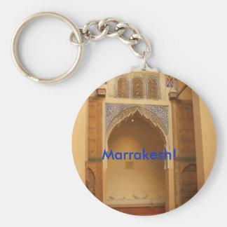 Marrakesh, Marruecos Llavero Redondo Tipo Pin