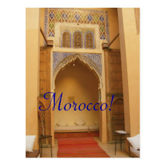 Marrakesh Marruecos Tarjeta Postal
