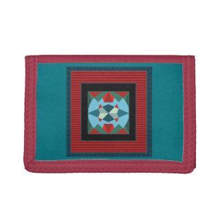 Marrakesh medallion rustic bright ethnic  pattern trifold wallet