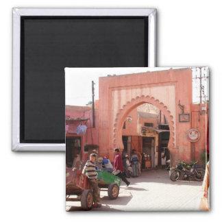 marrakesh medina door 2 inch square magnet