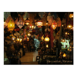 Marrakesh Morocco Lamp Shop Postcard