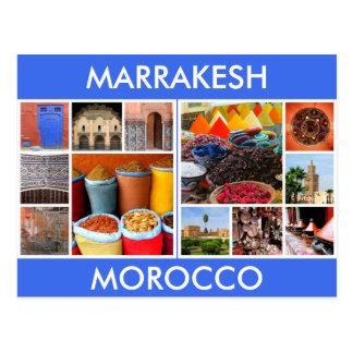 marrakesh morocco scenes postcard