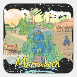 Marrakesh Pegatina Cuadrada