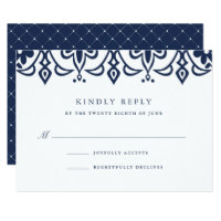 Marrakesh RSVP Card | Navy