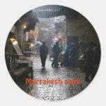 Marrakesh souk in Morocco Round Sticker