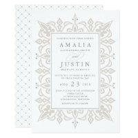 Marrakesh Wedding Invitation | Linen Greige