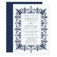 Marrakesh Wedding Invitation | Navy (<em>$2.01</em>)