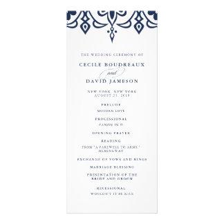 Marrakesh Wedding Program | Navy
