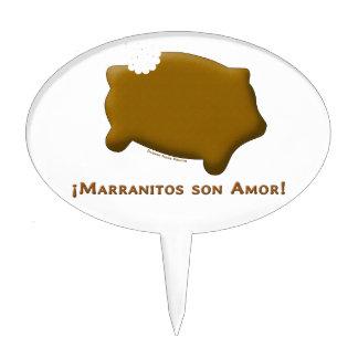 Marranitos son Amor Marranitos are Love Cake Topper