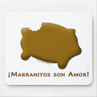 Marranitos son Amor (Marranitos are Love) Mouse Pads