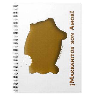 Marranitos son Amor (Marranitos are Love) Spiral Note Books