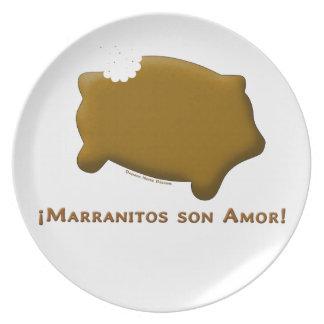 Marranitos son Amor (Marranitos are Love) Plates