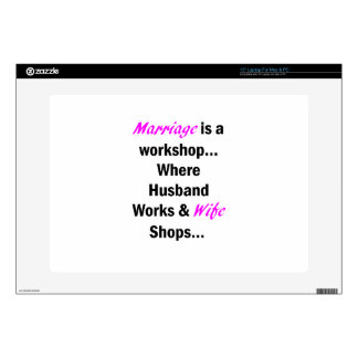 """Marriage 15"""" Laptop Decal"""