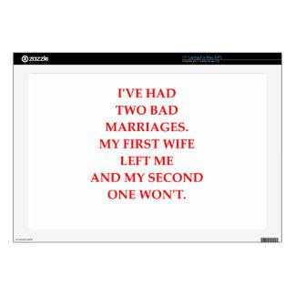 """MARRIAGE 17"""" LAPTOP SKIN"""