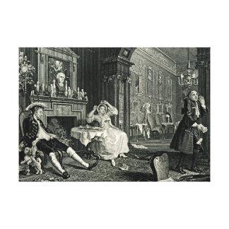 Marriage a La Mode by William Hogarth Canvas Print