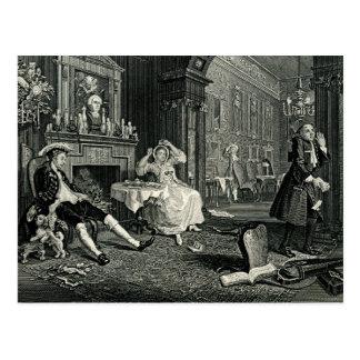 Marriage a La Mode by William Hogarth Postcard