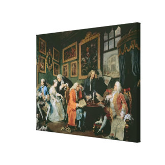 Marriage a la Mode: I - The Marriage Settlement, c Stretched Canvas Print