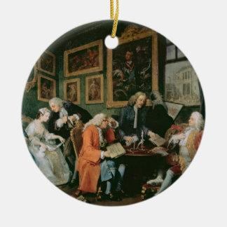 Marriage a la Mode: I - The Marriage Settlement, c Ceramic Ornament