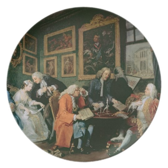 Marriage a la Mode: I - The Marriage Settlement, c Melamine Plate