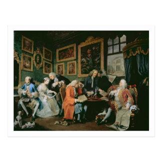 Marriage a la Mode: I - The Marriage Settlement, c Postcard
