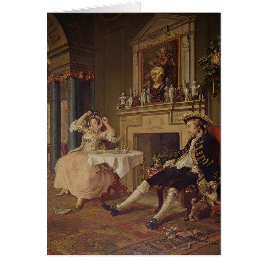 Marriage a la Mode:II- The Tete a Tete, c.1743 Card