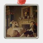 Marriage a la Mode:II- The Tete a Tete, c.1743 Metal Ornament