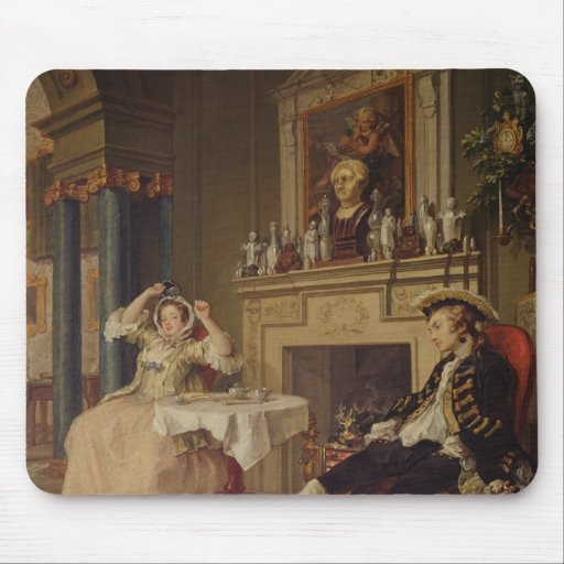 Marriage a la Mode:II- The Tete a Tete, c.1743 Mouse Pad
