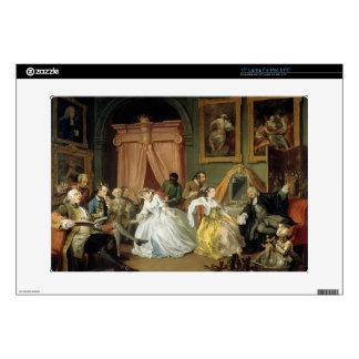 """Marriage a la Mode: IV, The Toilette, c.1743 (oil 15"""" Laptop Skins"""