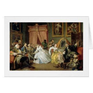 Marriage a la Mode: IV, The Toilette, c.1743 (oil Card