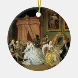 Marriage a la Mode: IV, The Toilette, c.1743 (oil Ceramic Ornament