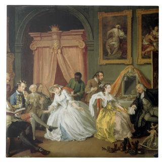 Marriage a la Mode: IV, The Toilette, c.1743 (oil Ceramic Tile