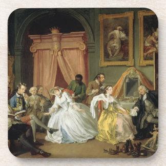 Marriage a la Mode: IV, The Toilette, c.1743 (oil Drink Coaster