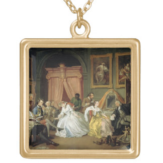 Marriage a la Mode: IV, The Toilette, c.1743 (oil Gold Plated Necklace