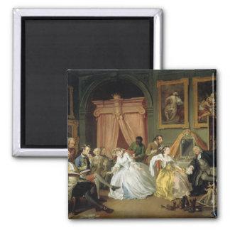 Marriage a la Mode: IV, The Toilette, c.1743 (oil Magnet