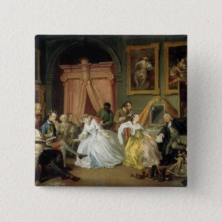 Marriage a la Mode: IV, The Toilette, c.1743 (oil Pinback Button