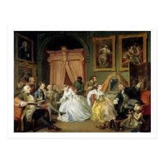 Marriage a la Mode: IV, The Toilette, c.1743 (oil Postcard