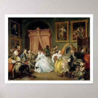 Marriage a la Mode: IV, The Toilette, c.1743 (oil Poster