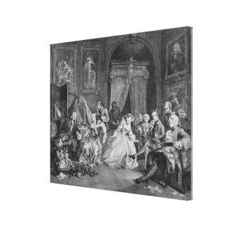 Marriage a la Mode, Plate IV, The Toilette, 1745 Canvas Print
