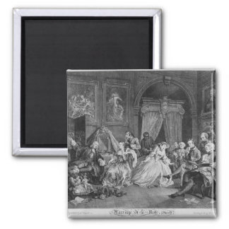 Marriage a la Mode, Plate IV, The Toilette, 1745 Magnet