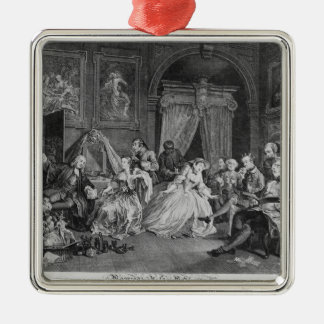 Marriage a la Mode, Plate IV, The Toilette, 1745 Metal Ornament
