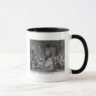 Marriage a la Mode, Plate IV, The Toilette, 1745 Mug