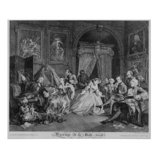 Marriage a la Mode, Plate IV, The Toilette, 1745 Poster
