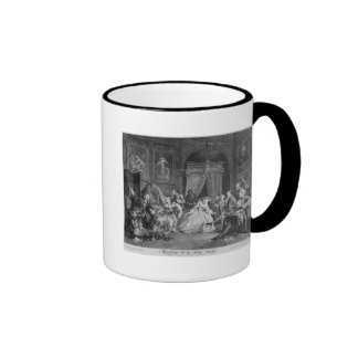 Marriage a la Mode, Plate IV, The Toilette, 1745 Ringer Mug