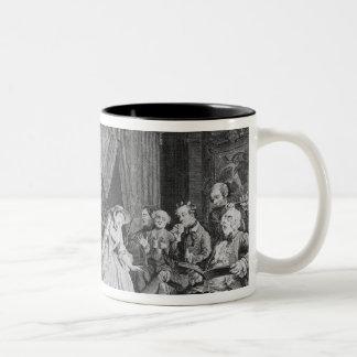 Marriage a la Mode, Plate IV, The Toilette, 1745 Two-Tone Coffee Mug
