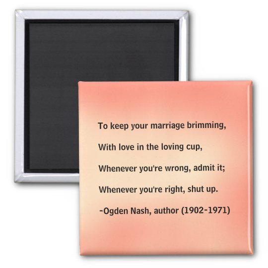 Marriage advice - magnet