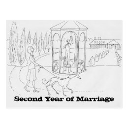 Marriage after the first year Postcard